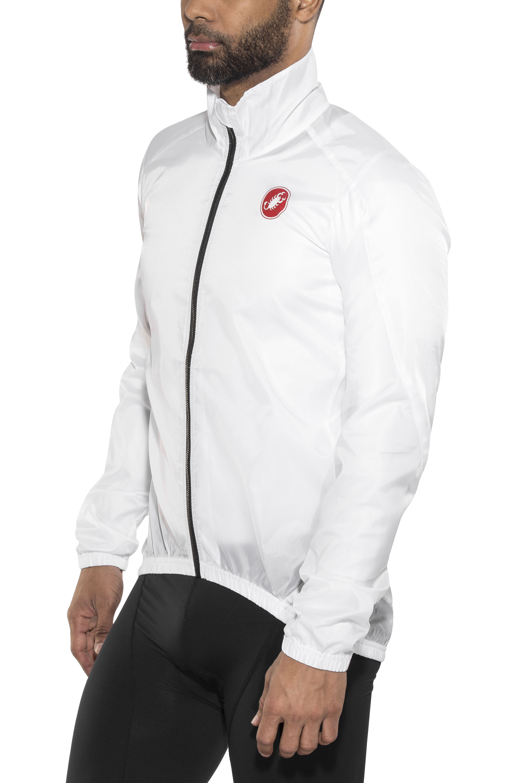 Castelli Squadra ER Mens Cycling Rain Jacket White